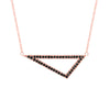 Medium Black Diamond Triangle Necklace | Rose Gold