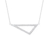 Medium Diamond Triangle Necklace | White Gold
