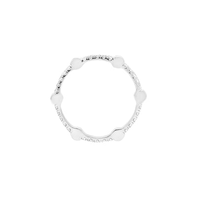 Yellow Sapphire Gear Band | White Gold