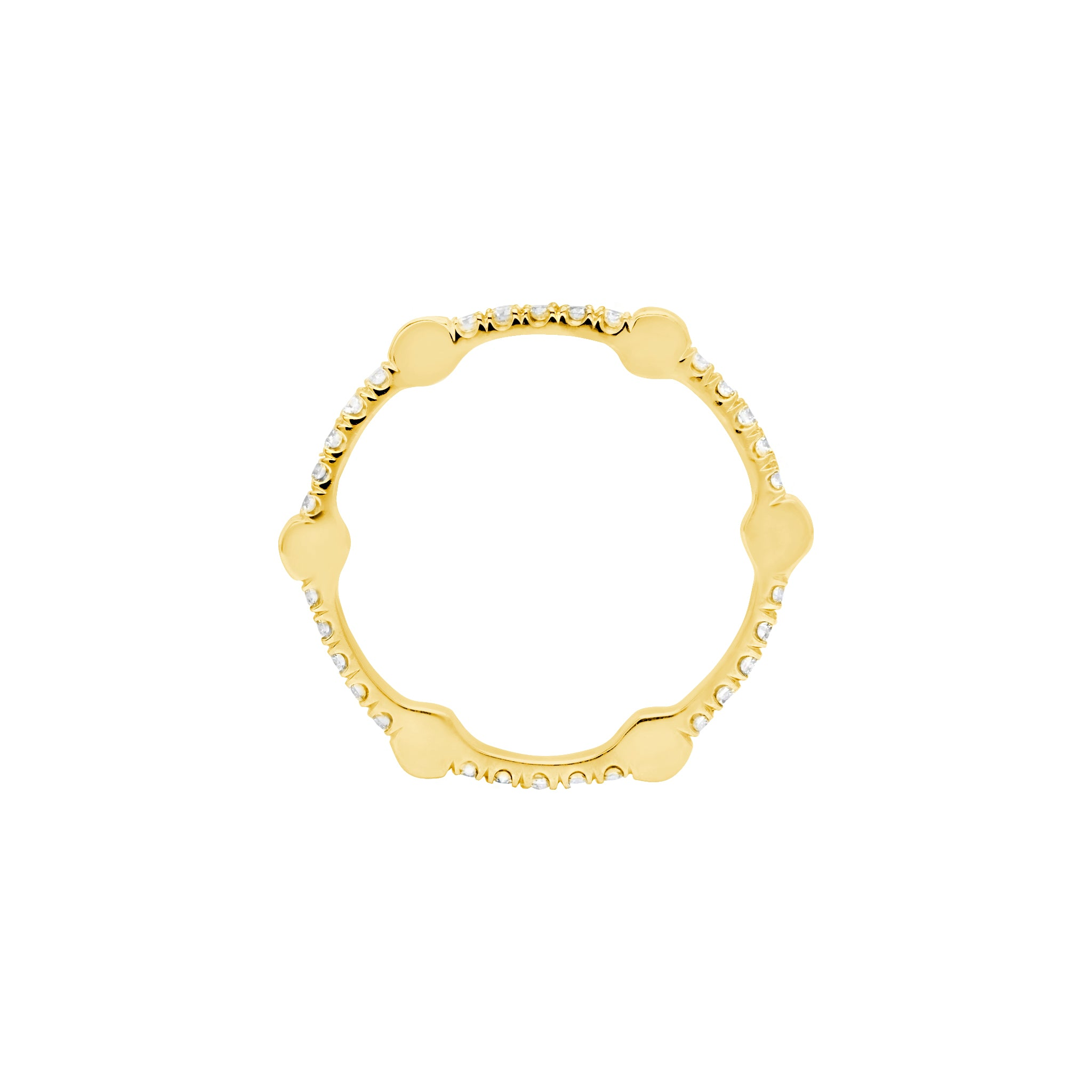 Cage Band | Gold with Pink Sapphires