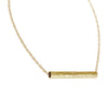 Long Tube Necklace | Gold