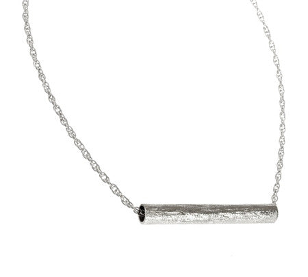 Long Tube Necklace | Silver