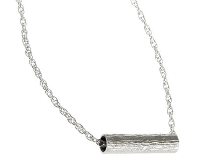 Short Tube Necklace | Silver