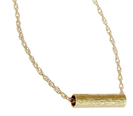 Short Tube Necklace | Gold