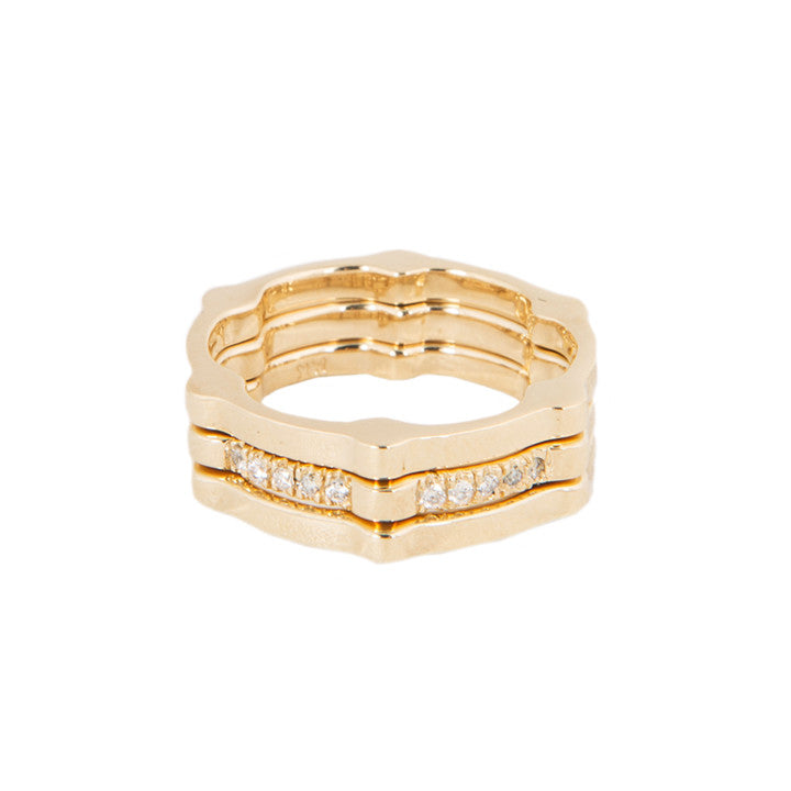 Shown stacked with Diamond Cage Band
