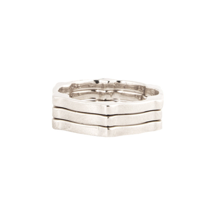 Cage Band | White Gold