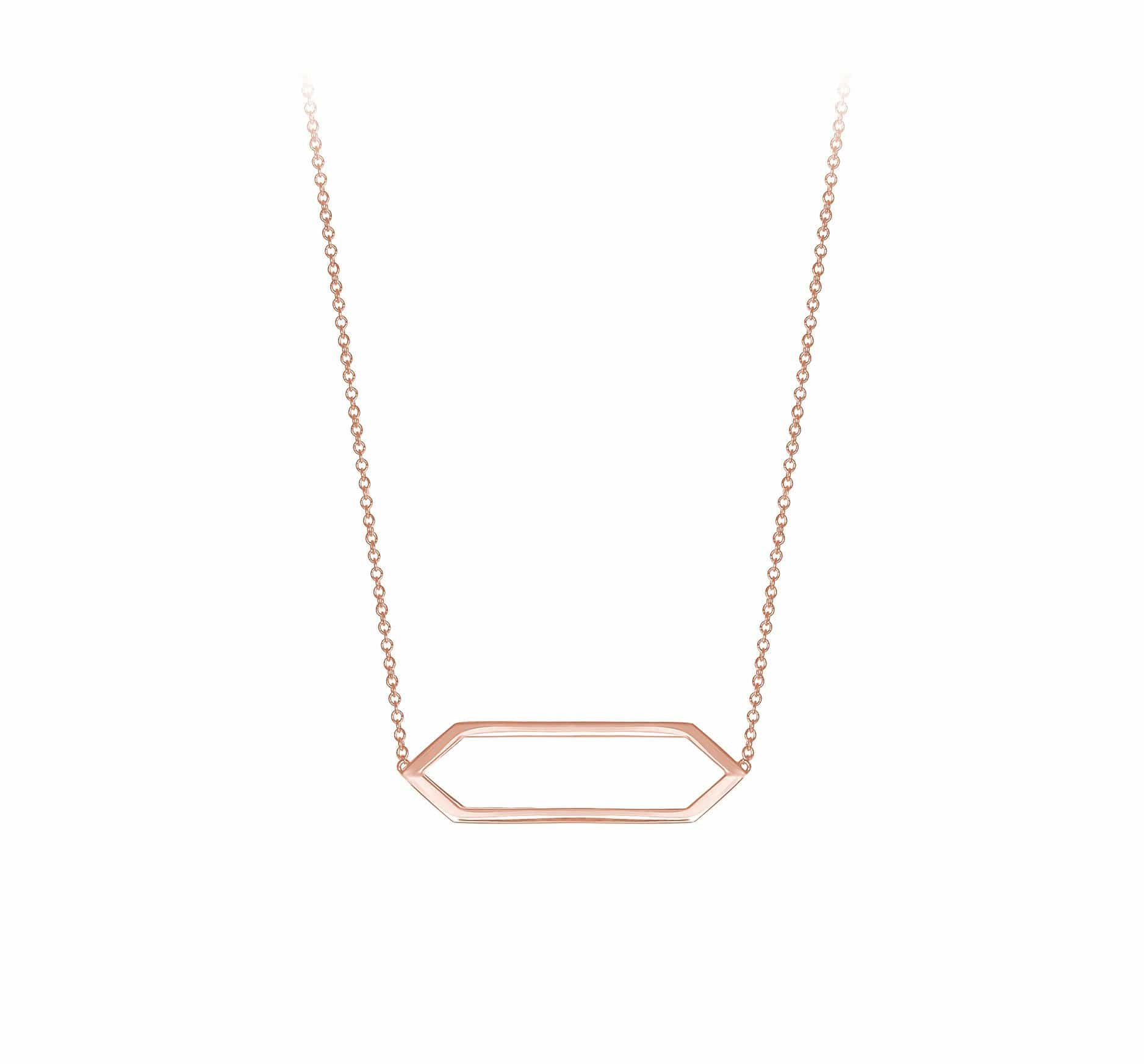 Mini Marquis Necklace | 14K Rose Gold