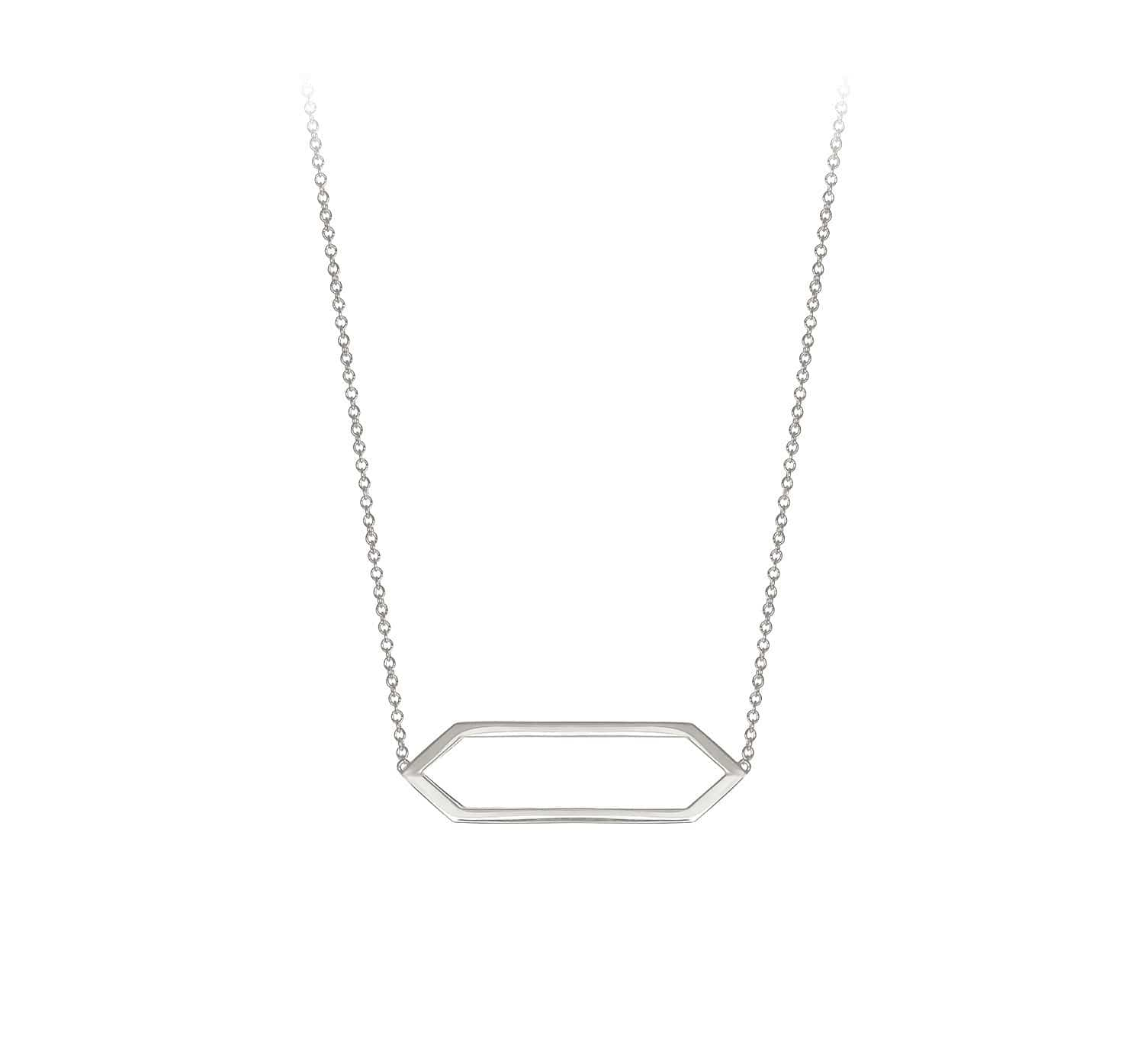 Mini Marquis Necklace | 14K White Gold