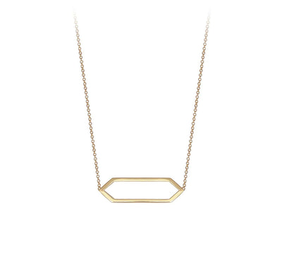 Mini Marquis Necklace | Yellow Gold