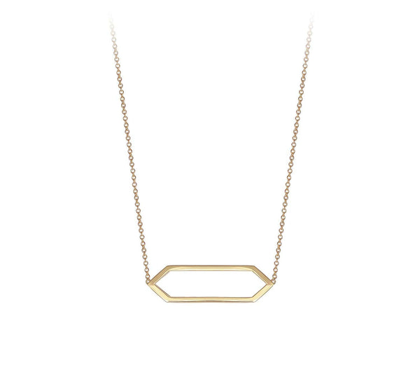 Mini Marquis Necklace | 14K Yellow Gold