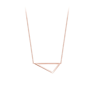 Mini Triangle Necklace | Rose Gold