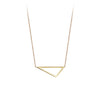 Mini Triangle Necklace | Yellow Gold