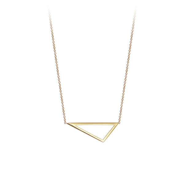 Mini Triangle Necklace | 14K Yellow Gold