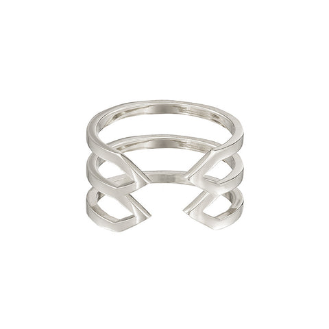 Stacked Dagger Ring  | 14K White Gold