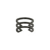 Stacked Dagger Ring - Midi | Black Gold