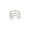 Stacked Dagger Ring - Midi | White Gold