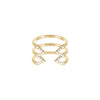 Diamond Stacked Dagger Ring - Midi | Yellow Gold