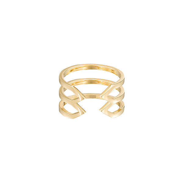 Stacked Dagger Ring - Midi  | 14K Yellow Gold