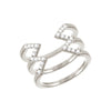Diamond Stacked Dagger Ring | White Gold