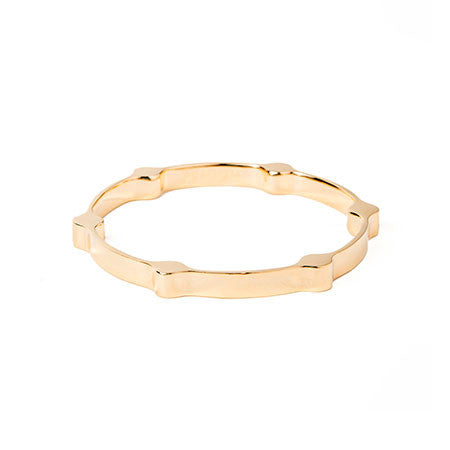 Gear Bangle | Gold Plated Brass
