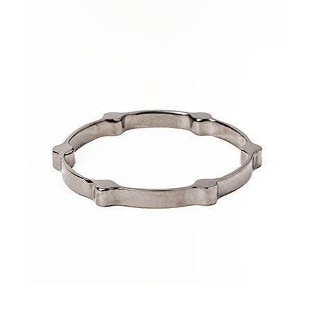 Gear Bangle | Gunmetal Plated Brass