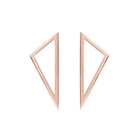 Medium Triangle Earrings | 14K Rose Gold