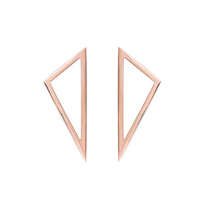 Medium Triangle Earrings | Rose Gold