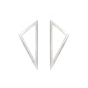 Medium Triangle Earrings | White Gold