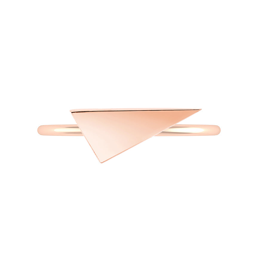Triangle Geo Stacker | Rose Gold
