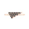 Black Diamond Triangle Geo Stacker | Rose Gold