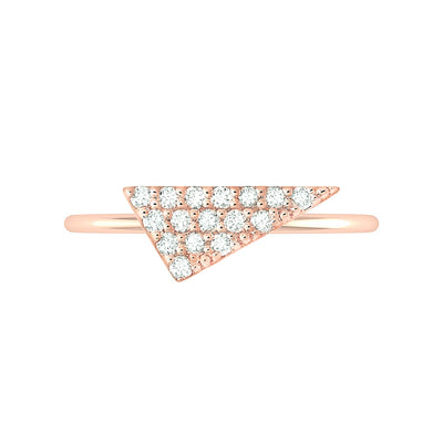 Diamond Triangle Geo Stacker | Rose Gold