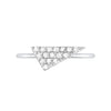 Diamond Triangle Geo Stacker | White Gold