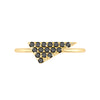Black Diamond Triangle Geo Stacker | Yellow Gold