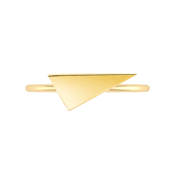 Triangle Geo Stacker | Yellow Gold