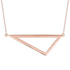 Large Triangle Necklace | Rose Gold