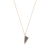 Black Diamond Mini Triangle Charm Necklace | Rose Gold