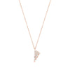 Diamond Mini Triangle Charm Necklace | Rose Gold