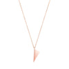 Mini Triangle Charm Necklace  | Rose Gold
