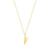 Mini Triangle Charm Necklace | Yellow Gold