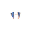 Blue Sapphire Triangle Studs | Rose Gold