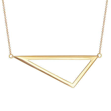 Triangle Necklace | Yellow Gold