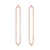Long Marquis Earrings | Rose Gold
