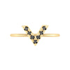 Black Diamond V Geo Stacker | Yellow Gold