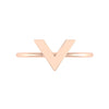 V Geo Stacker | Rose Gold