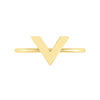 V Geo Stacker | Yellow Gold