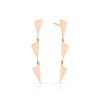 3 Tiered Flag Earrings | Rose Gold
