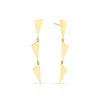 3 Tiered Flag Earrings | Yellow Gold