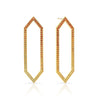 Ombre Yellow Sapphire Large Marquis Earrings | Yellow Gold