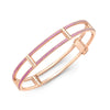 Locking Cage Bracelet | Rose Gold with Ombre Pink Sapphires on Lateral Bars