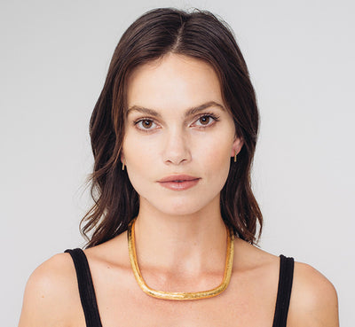 Textured Wrap Collar | Gold